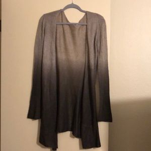 Tan to brown ombré  cashmere duster
